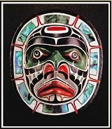 Moon Mask by Native American Indian artist Harold Alfred from Alert Bay BC Canada