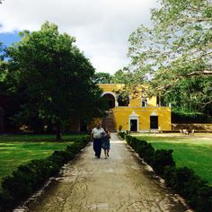 Side by side. Guayamon Hacienda in Campeche, Mexico.