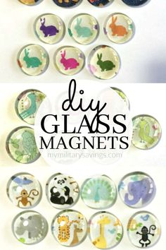 See how to make these super cute DIY glass magnets! Add this to your crafts board!