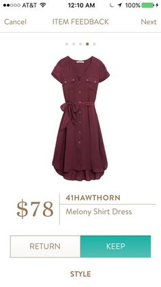 41Hawthorn Melony Shirt Dress | Perfect for work!  It's nice to have sleeves on work dresses so that I don't have to wear cardigans with it.  Perfect preppy style.