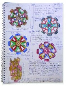 Colette Delozanne. Cuadernos (Bitácora) de  dibujos