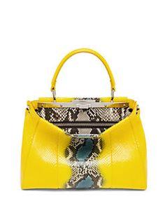 Fendi - Peekaboo Multicolor Python Satchel