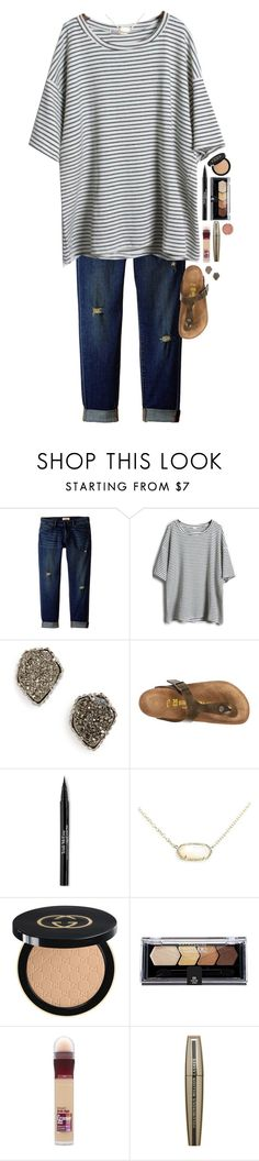 """Happy Sunday! Go like my last two set! Thanks!!!"" by simply-makayla ❤ liked on Polyvore featuring CJ by Cookie Johnson, Kendra Scott, Birkenstock, Trish McEvoy, Gucci, Maybelline, L'Oréal Paris and Milani"