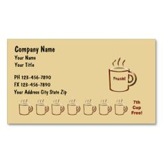 coffee businss cards business card templates loyalty card template card templates card tags