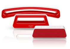 ePure Red and White with answering system base