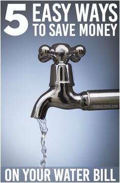 Tips to save money on your water bill - Number 1 can help you save BIG!