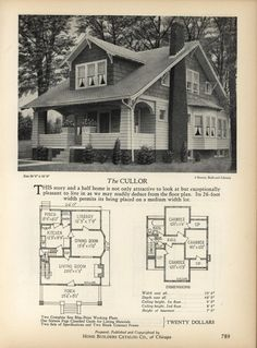 The CULLOR - Home Builders Catalog: plans of all types of small homes by Home Builders Catalog Co.  Published 1928