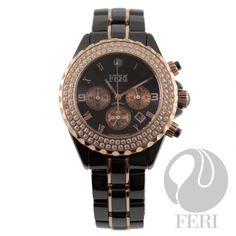Global Wealth Trade Corporation - FERI Designer Lines Aras Ceramic Watch-timepiece Gold Diamond Watches, Expensive Watches, High End Fashion, Michael Kors Watch, Luxury Branding, Fashion Brand, Jewelry Design, Ceramics, Crystals
