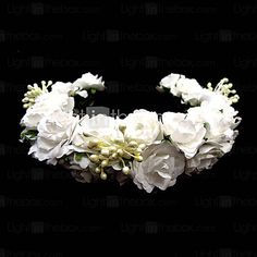 Lovely Paper Flower Wedding/ Special Occasion Flower Girl Headpiece