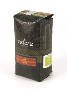 Beautifully detailed coffee packaging from Chen Design Associates