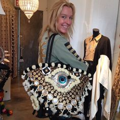 SVW in her Figue Jacket and Tuk tuk! Hippie Chic Fashion, Petra, Military Chic, Bohemian Style, Boho, Evil Eye, Straw Bag, Cross Stitch, Shoulder Bag