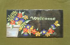 Hey, I found this really awesome Etsy listing at https://www.etsy.com/listing/156805977/summer-flowers-slate-welcome-sign