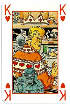 King of hearts Martin Mystere deck King Of Hearts Card, House Of Cards, Heart Cards, Game Design, Board Games, Tarot, Medieval, Playing Cards, Graphic Design