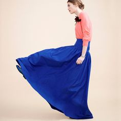 J.Crew Collection cashmere boyfriend cardigan sweater and Collection crinoline skirt in deep violet.