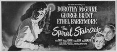 The Spiral Staircase (1946) Dorothy McGuire, Ethel Barrymore, George Brent by classicsondvd
