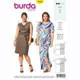 Burda 6448 - Plus size tricot T-shirtjurk