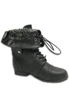 Black Foldable Combat Boots | These are a customer FAVORITE! #fall #fashion #combatboots #limelite