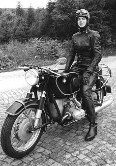 Anka-Eve Goldmann, pioneering female motorcyclist. Originally on http://tomboystyle.blogspot.com/2012/05/icon-anka-eve-goldmann.html and http://www.flickr.com/photos/senex_1347/with/2802836189/