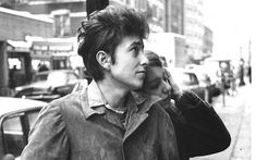 Bob Dylan walking with his girlfriend Suze Rotolo in September 1961 in New York City