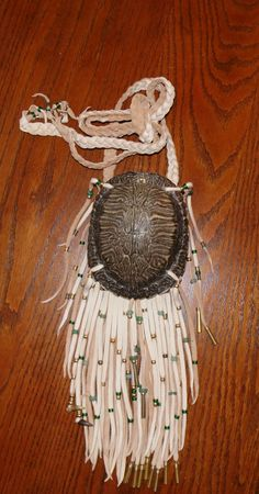 Red Ear Slider  turtle shell medicine bag pouch mountain man native american style