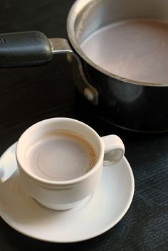Stovetop Hot Cocoa - Morning hot cocoa is only about five minutes away and only contains five ingredients. That's a great way to high five t...