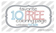Good listing of free coloring page sites.