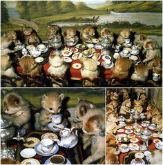 The Kittens' Tea Party  so wonderful and weird all at the same time...