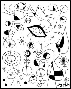 Malvorlagen Joan Miro quilling coloring pages Documents D'art, Art Handouts, Art Worksheets, Ecole Art, Arts Ed, Elements Of Art, Art Plastique, Art Activities, Elementary Art