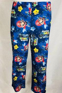 Nintendo Super Mario Galaxy Boys PJ Lounge Pants Sleep Bottoms Size Medium 6 8 #nintendo #LongPajamaBottoms 2.25.18