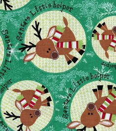 Holiday Inspirations Fabric-Christmas Reindeer Patch