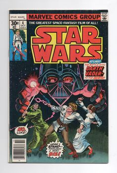 "Marvel Star Wars Comic #4 ""In Battle With Darth Vader"" - 1980 Star Wars - A New Hope Part Four by ThisCharmingManCave on Etsy  https://www.etsy.com/listing/502915095/marvel-star-wars-comic-4-in-battle-with"