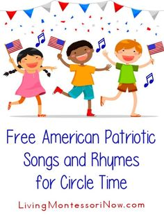 Free American Patriotic Songs and Rhymes for Circle Time Educational videos and patriotic songs for Memorial Day, Flag Day, of July, and Veteran's Day for a variety of ages; perfect for classroom or home Circle Time Activities, Movement Activities, Music Activities, Preschool Activities, Motor Activities, Holiday Activities, Therapy Activities, Therapy Ideas, Summer Activities