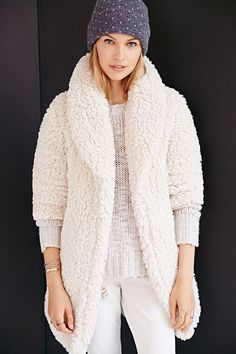 Goodness super cozy! Pins And Needles Sherpa Furry Robe Coat