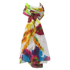 Bright flower spring scarf...
