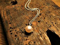 Natural pearl and sterling silver pendant. Elke Marie Frerichs