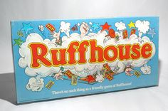 Ruffhouse Board Game Parker Brothers 1980 VINTAGE COMPLETE w NEW PARTS #ParkerBrothers