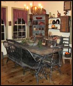 Beau Country Home Decor | Primitive Decor | Country Kitchen Curtains · Primitive  Dining RoomsPrimitive ...