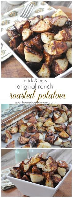 Original Ranch Roasted Potatoes are so easy and delicious!  #hiddenvalley  #sponsored