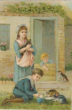 pc chr lith kinderen poezen 1900 | Flickr - Photo Sharing!