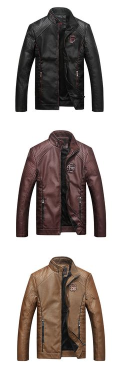 0040763f479   46.74  Men s Daily   Casual   Weekend Fashion   Punk   Gothic Fall    Winter Plus Size Regular Leather Jacket