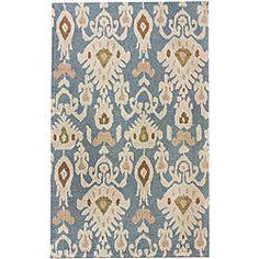 Overstock Handmade Alexa Ikat Wool Rug