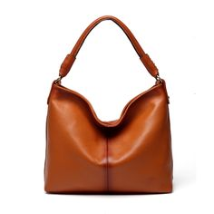 Adelia Leather Brown Hobo Handbag