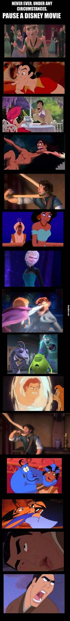 Funny pictures about Pausing A Disney Movie At The Wrong Time. Oh, and cool pics about Pausing A Disney Movie At The Wrong Time. Also, Pausing A Disney Movie At The Wrong Time photos. Disney Pixar, Walt Disney, Disney Amor, Disney Jokes, Funny Disney Memes, Disney Films, Disney Fun, Disney And Dreamworks, Disney Magic