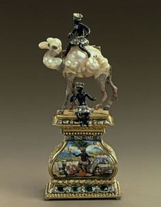 A streak of mad fantasy going back to Renaissance days persisted in the German art of the object. It inspired pieces such as a tiny camel made in 1706 from weird pearls — literally baroque (meaning distorted) pearls in the etymological sense of the word in Portuguese. Photo: JŸrgen Karpinski