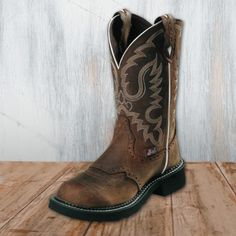 Justin Ladies Bark Round Toe Gypsy Boots, love these!