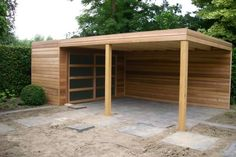 The very first step in building a carport is rather simple. Similarly, just like the larger portion of the carport designs, the quad carport come in a lot of styles and arrangements. Building A Carport, Carport Garage, Pergola Carport, Backyard Pergola, Carport Canopy, Building Homes, Outdoor Rooms, Outdoor Living, Carport With Storage