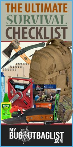 The Ultimate Survival Checklist Wilderness Survival, Camping Survival, Outdoor Survival, Survival Prepping, Emergency Preparedness, Survival Gear, Survival Skills, Survival Stuff, Survival Equipment
