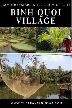 Discover Binh Quoi Village, a hidden gem in Ho Chi Minh City, Vietnam. This traditional bamboo village is a rustic oasis in the city and totally free to visit. via @thetravelninjas