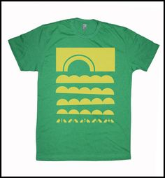 Men's Hawaii T-Shirt Sun Clouds Japanese by stickyrainbows on Etsy