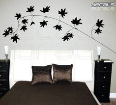 Wall+decals+IVY+LEAVES+BRANCH+Vinyl+art+surface+by+decalsmurals,+$37.00